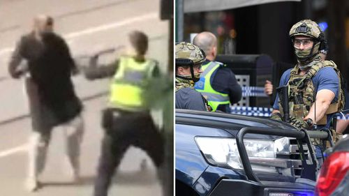 The training comes almost three weeks after Hassan Khalif Shire Ali set his 4WD on fire and stabbed three people on Bourke Street in Melbourne.