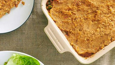 Zoe Bingley-Pullin's lamb and vegetable samosa pie