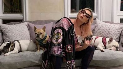 Lady Gaga and her dogs