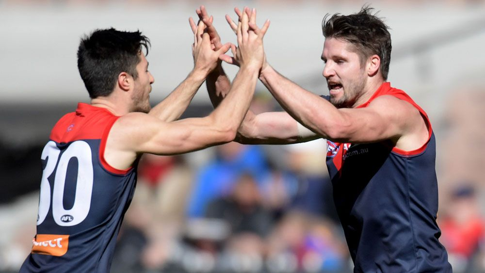Melbourne Demons hold off Brisbane Lions in AFL thriller at MCG