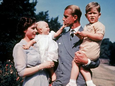 The Queen, Prince Philip, Prince Charles and Princess Anna
