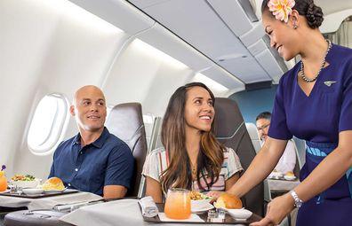 Hawaiian Airlines business class cabin A330