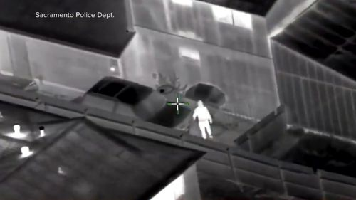 A police helicopter reported to officers on the ground that the 22 year old was breaking into homes (SUPPLIED)
