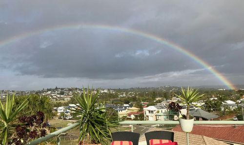 A rainbow this morning over North Curl Curl, looking south. Picture: Lisa Bousfield