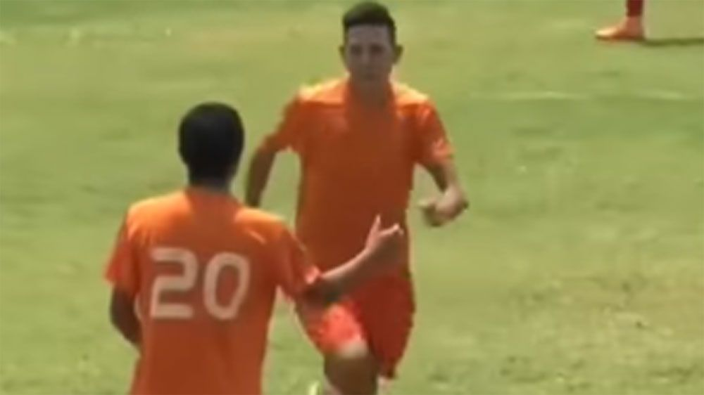 Football player in Mexcio jumps into a fence in bizarre post goal celebration