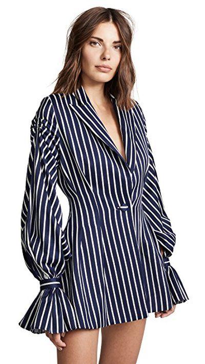 "<a href=""https://www.shopbop.com/pinstriped-ruffle-blazer-dress-vatanika/vp/v=1/1515277175.htm?fm=search-viewall-shopbysize&amp;os=false"" target=""_blank"" title=""Vatanika Pinstripe Ruffle Blazer Dress, $899.38"" draggable=""false"">Vatanika Pinstripe Ruffle Blazer Dress, $899.38</a>"