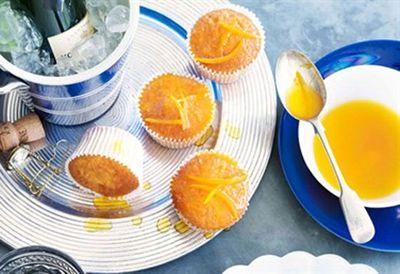 Orange cupcakes with burnt-orange drizzle