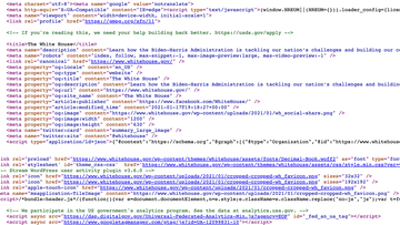 The White House website has a link to a hiring page in the source code of the page.