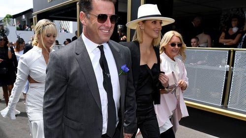 Karl Stefanovic and girlfriend Jasmine Yarbrough. (AAP)