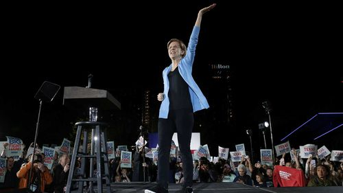 Elizabeth Warren at a rally in Houston. Senator Warren needs a surprise win on Super Tuesday to stay in contention.