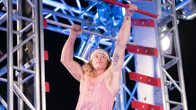 Ashlin Flashlin Herbert disqualified on the Salmon Ladder Stage 2 Australian Ninja Warrior 2019 Grand Final.