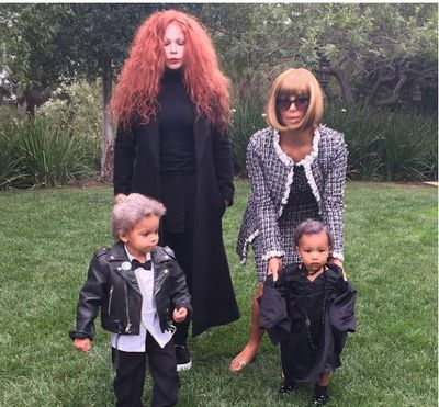 <p>Kim Kardashian nailed the Wintour look in 2014. North was dressed as Andre Leon Talley while her make up artist Joyce Bonelli dressed as former <em>Vogue</em> creative director Grace Coddington. </p> <p> </p> <p>Image: Instagram/@kimkardashian</p>