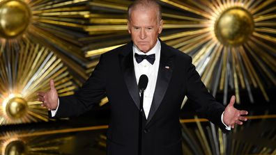 United States Vice President Joe Biden speaks onstage during the 88th Annual Academy Awards at the Dolby Theatre on February 28, 2016 in Hollywood, California