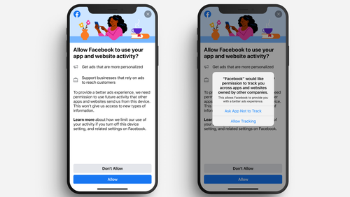 Facebook will encourage users to accept tracking with this iOS 14 prompt