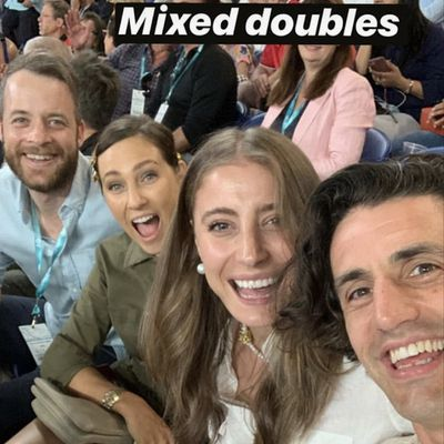 Hamish Blake, Zoë Foster Blake, Rebecca Harding, and Andy Lee