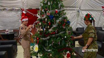 VIDEO: Aussie troops celebrate Christmas overseas