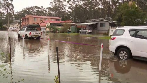Flooding at Sanctuary Point, NSW.