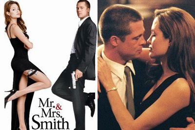 The birth of Brangelina!<br/><br/>In 2004, Brad Pitt and Angelina Jolie met on the sexy set of action-packed flick <i>Mr and Mrs Smith</i>... with the raunchy sex scenes and cosy slow-dancing proving to be somewhat of an aphrodisiac for the steamy pair. <br/><br/>Source: 20th Century Fox