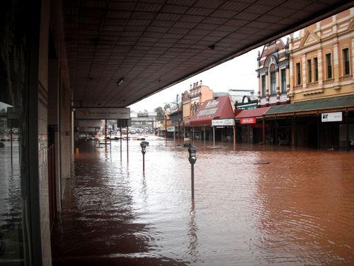 Flood water damage in Toowoomba, January 2011. (AAP)
