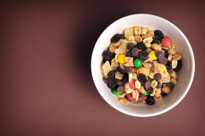 A handful of trail mix (145 calories)
