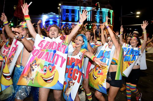 This year's Mardi Gras will mark 40 years since its inception and also the national legalisation of same-sex marriage (AAP).