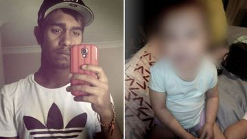 Police allege Jaycob Yarran, 22, used a cigarette lighter to inflict burns on a toddler's limbs and torso.