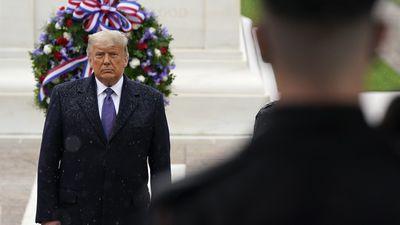 Trump lays wreath