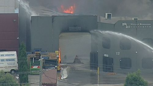 A group of 20 firefighters are tackling the blaze. (9NEWS)