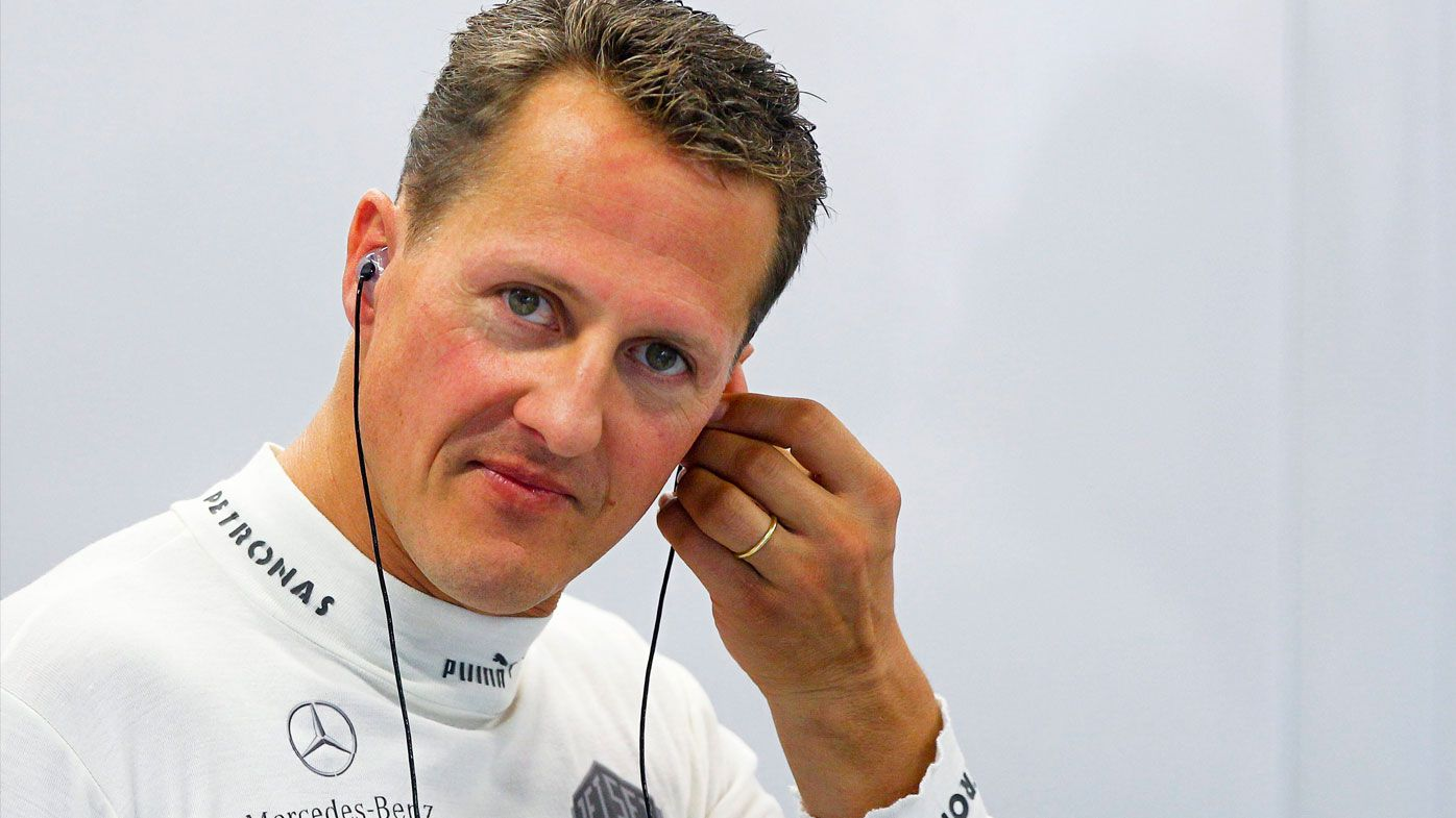 Michael Schumacher watched Lewis Hamilton claim the Brazilian Grand Prix from home in Switzerland