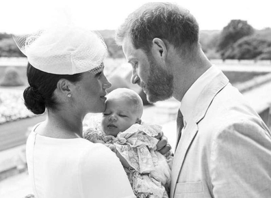 Son Archie was christened in the Queen's private chapel at Windsor Castle in 2019.