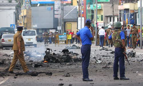 The attack was among coordinated Easter Sunday suicide bombings on three churches and three tourist hotels that killed more than 260 people.