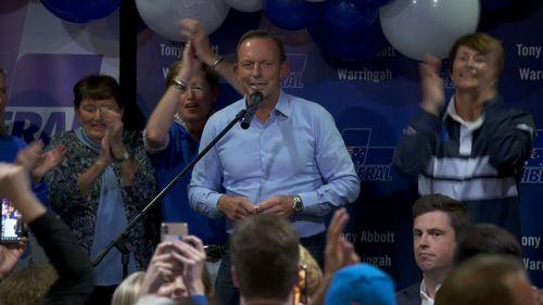 Tony Abbott delivers his concession speech.