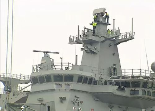 Around 4000 jobs will be created nationwide, 1500 of those in South Australia, with the program to build nine new naval frigates. Picture: 9NEWS.