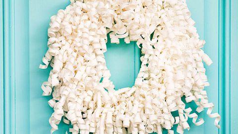 Curly ribbon wreath