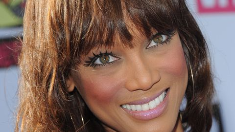 Tyra Banks is sporting a mo'