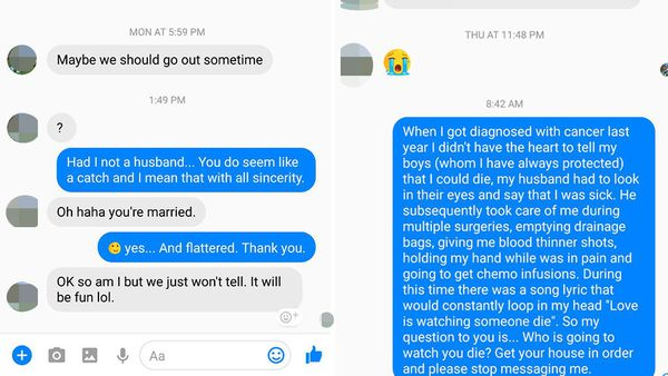 Woman has the best response to married man wanting to cheat with her
