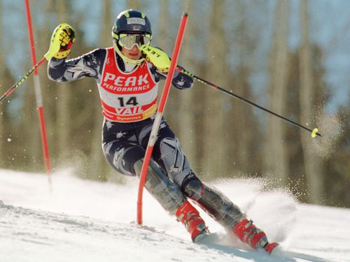 Ms Steggall is a former champion skier.
