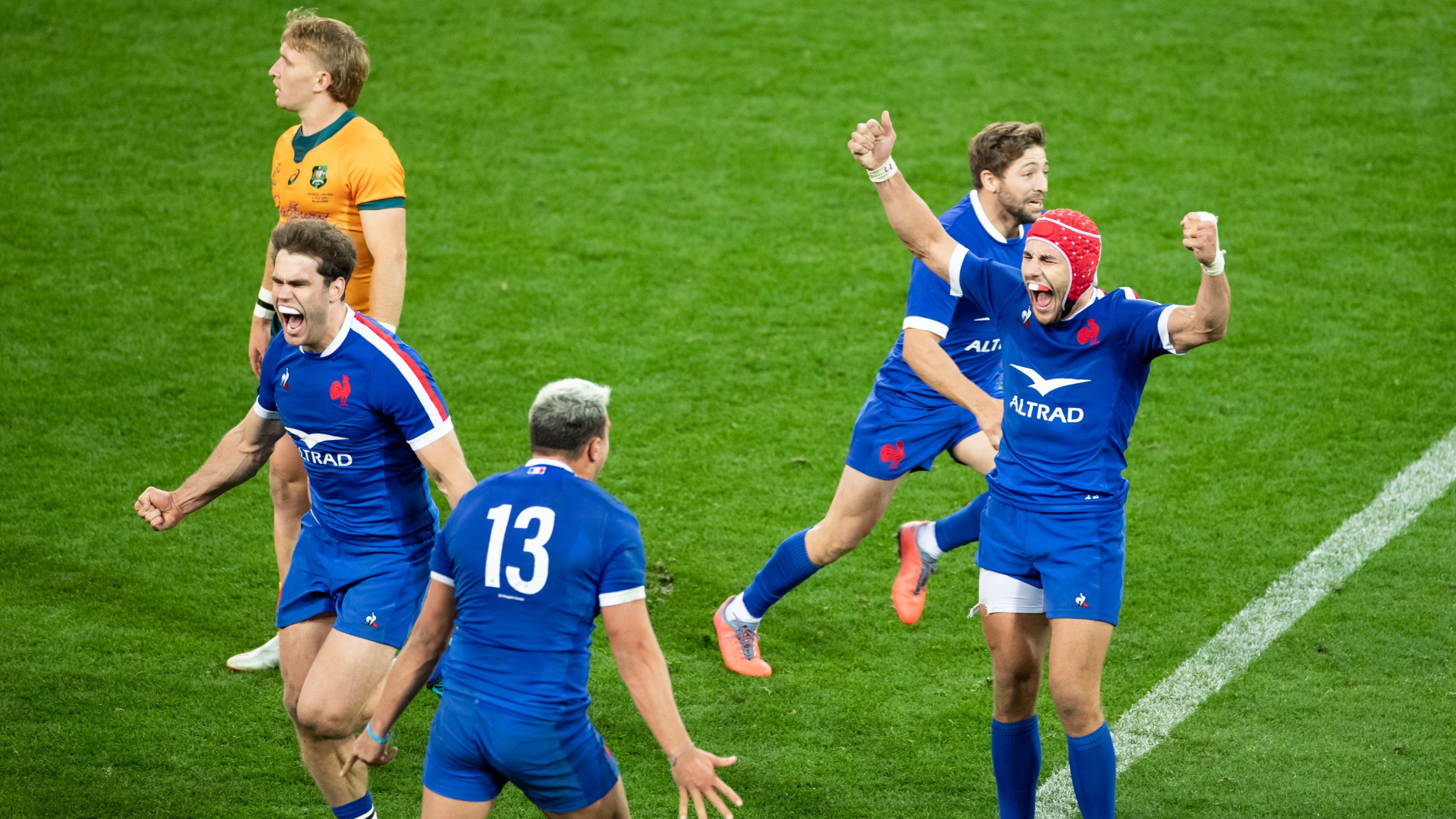 Wallabies forced to join France's victory party