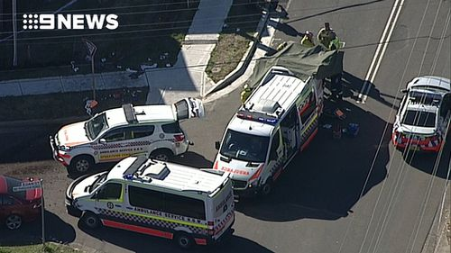 Emergency vehicles at the scene. (9NEWS)