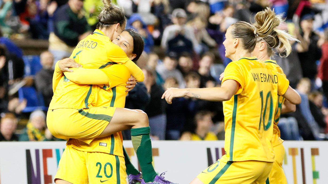 Football news: Sam Kerr stars as Matildas beat Brazil again