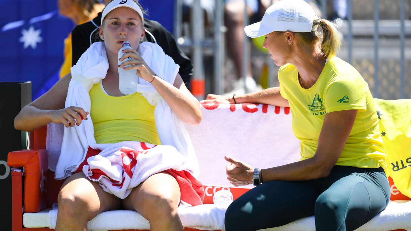 Australia tied with Ukraine after mixed day at Fed Cup
