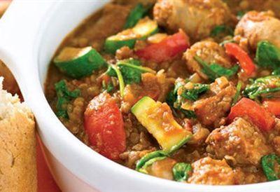 Friday: Sausage and lentil casserole