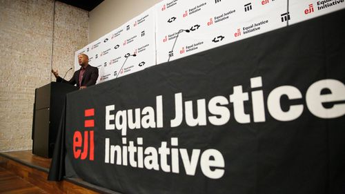 Bryan Stevenson speaks at a news conference in Montgomery, Alabama. (AP)