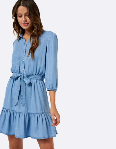 "<a href="" https://www.theiconic.com.au/maddie-tie-up-shirt-dress-547808.html"" target=""_blank"" draggable=""false"">Forever New maddie tie up shirt dress</a>, $89.99"