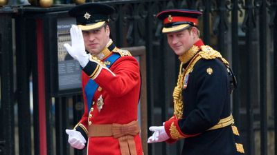 Prince Harry serves as Best Man at Prince William and Kate Middleton's wedding, 2011