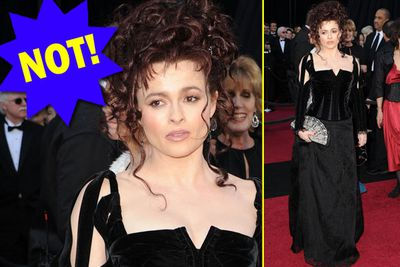 Helena is in top witchy form! After the BAFTAs, we were worried we'd lost her to boring sensible-dom...