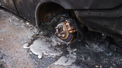 Melted car rim
