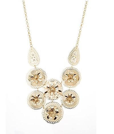 "<p><a href=""https://www.colettehayman.com.au/collections/jewellery/products/filigree-flwr-nl"" target=""_blank"">Colette by Colette Hayman Gold Filigree Flower Necklace, $19.99.</a></p> <p>A statement necklace says I made an effort folks. Like, I really, really did.</p>"