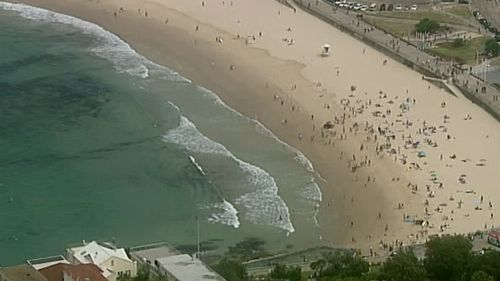 Swimmers have been ordered from the water at Bondi Beach. (9NEWS)