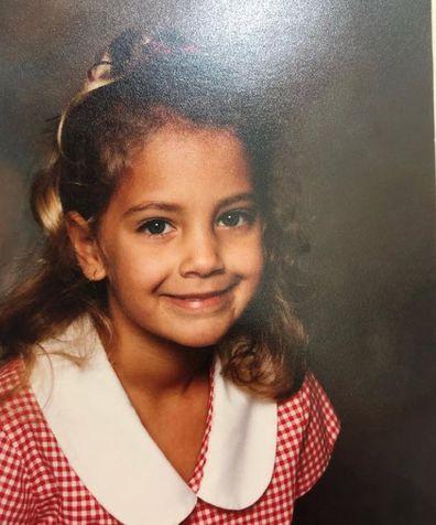 Brooke Boney as a child